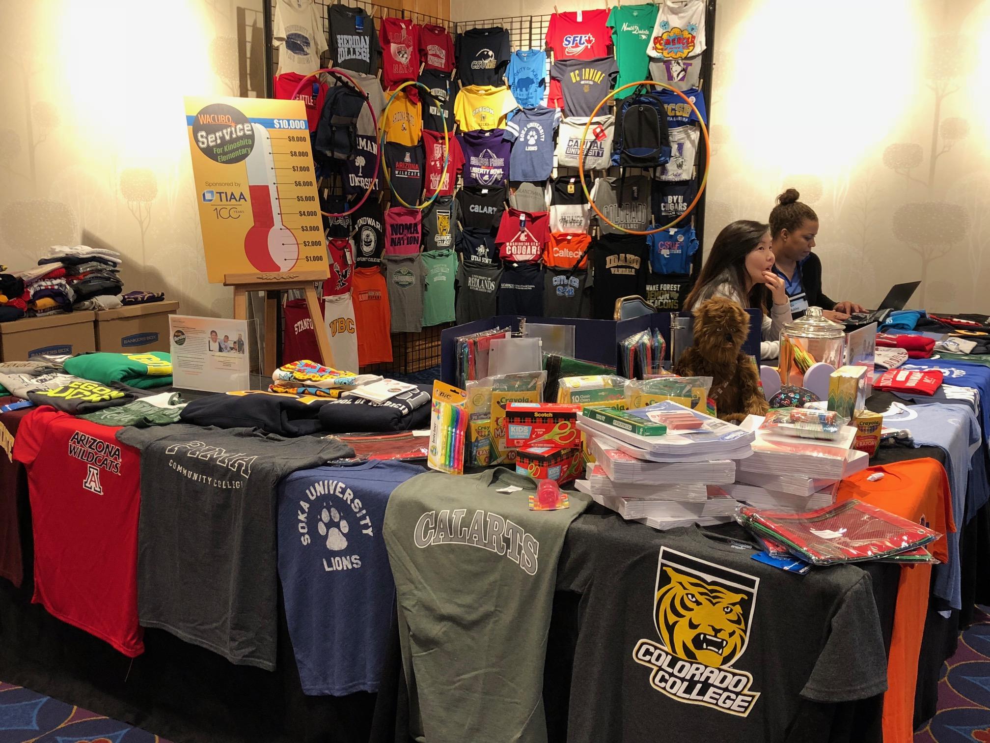 Photo: Past service project, t-shirts