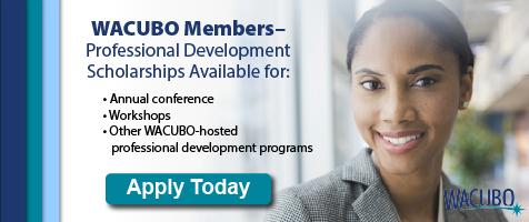 WACUBO Members: Professional development scholarships available!